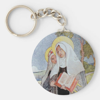 Saint Bridget and Deer Keychain