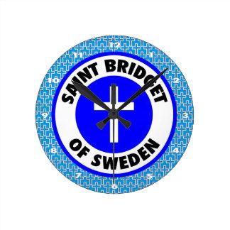 Saint Bridget of Sweden Round Clock
