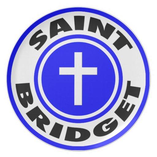 Saint Bridget Party Plate