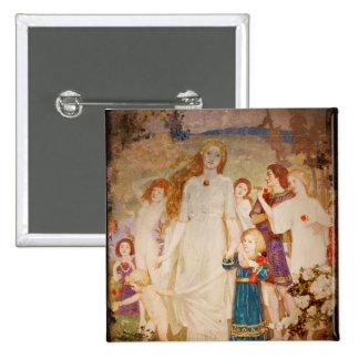 Saint Brigid as a Bride Button