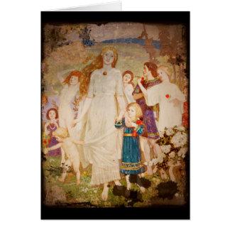 Saint Brigid as a Bride Card