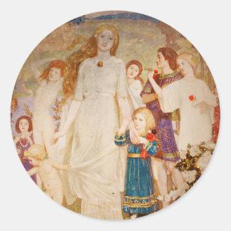 Saint Brigid as a Bride Classic Round Sticker