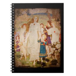 Saint Brigid as a Bride Spiral Notebook