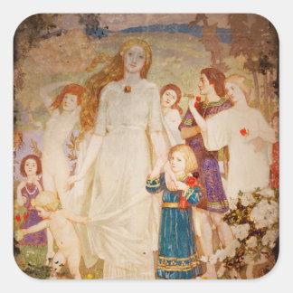 Saint Brigid as a Bride Square Sticker