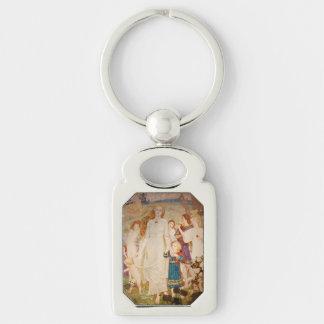 Saint Brigid as Brid Silver-Colored Rectangular Metal Keychain