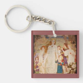 Saint Brigid as Brid Single-Sided Square Acrylic Keychain