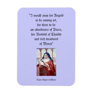 Saint Brigid of Kildare Rectangular Photo Magnet