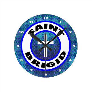 Saint Brigid Round Clock