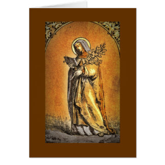 Saint Brigid with Bible and Oak Branch Card