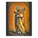 Saint Brigid with Bible and Oak Branch Postcard