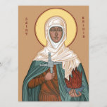 Saint Brigid with Cross and Holy Fire