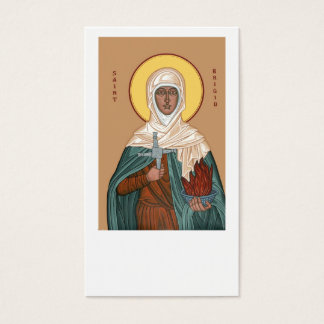 Saint Brigid with Cross and Holy Fire Business Card