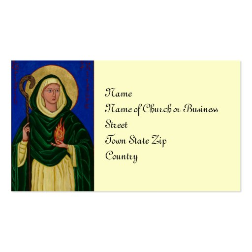 Saint Brigid with Holy Fire Business Cards