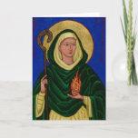 Saint Brigid with Holy Fire Card