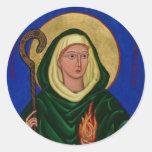 Saint Brigid with Holy Fire Classic Round Sticker