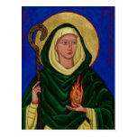 Saint Brigid with Holy Fire Post Card