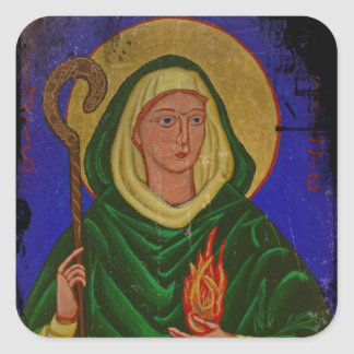 Saint Brigid with Holy Fire Square Sticker