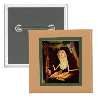 Saint Brigid's Bible and Staff Button