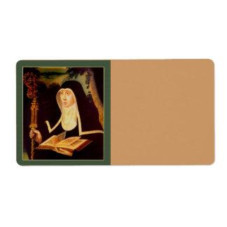 Saint Brigid's Bible and Staff Label