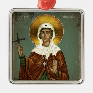 Saint Brigid's Cross Metal Ornament