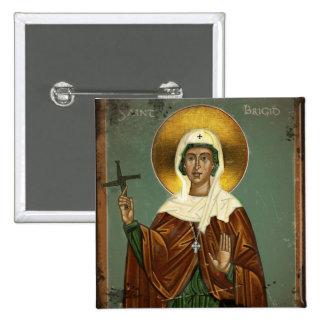 Saint Brigid's Cross Pinback Button