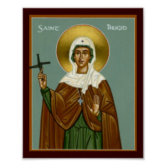 Saint Brigid's Cross Poster