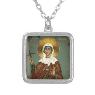 Saint Brigid's Cross Silver Plated Necklace