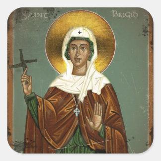Saint Brigid's Cross Square Sticker