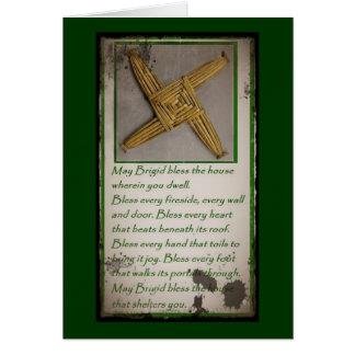 Saint Brigid's Prayer and Cross Card