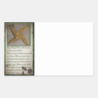 Saint Brigid's Prayer and Cross Rectangular Sticker