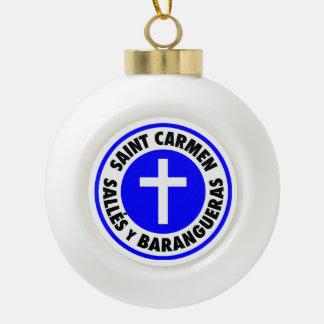 Saint Carmen Sallés y Barangueras Ceramic Ball Christmas Ornament