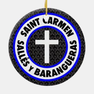 Saint Carmen Sallés y Barangueras Ceramic Ornament