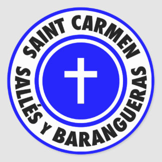 Saint Carmen Sallés y Barangueras Classic Round Sticker