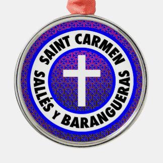 Saint Carmen Salles y Barangueras Metal Ornament