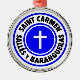 Saint Carmen Sallés y Barangueras Metal Ornament