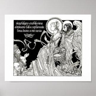 Saint Catherine Disputing the 50 Philosophers Poster