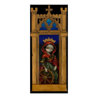 Saint Catherine icon gothic Art Print
