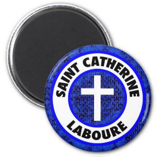 Saint Catherine Laboure 2 Inch Round Magnet