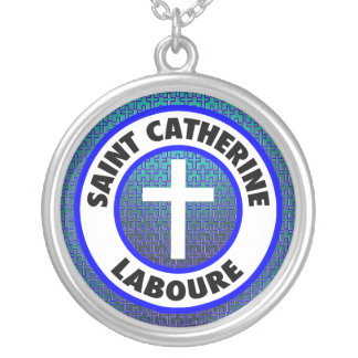 Saint Catherine Laboure Silver Plated Necklace