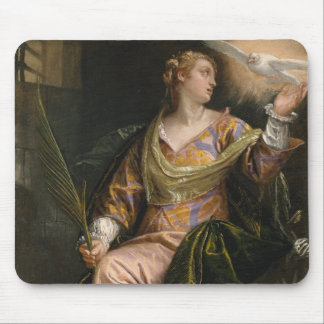 Saint Catherine of Alexandria in Prison Mouse Pad