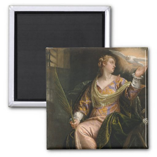 Saint Catherine of Alexandria in Prison - Veronese Refrigerator Magnets