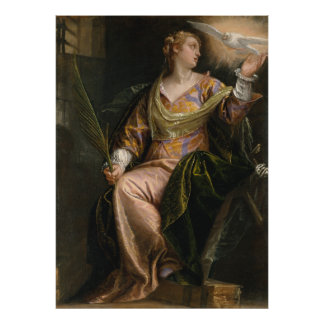 Saint Catherine of Alexandria in Prison - Veronese Poster