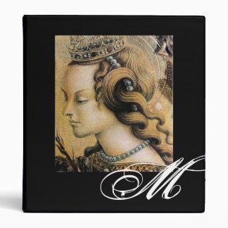 Saint Catherine of Alexandria Monogram 3 Ring Binder