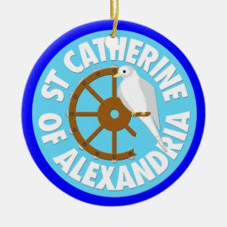 Saint Catherine of Alexandria Christmas Tree Ornament