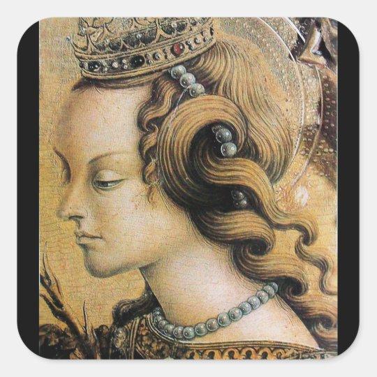 Saint Catherine of Alexandria Square Sticker