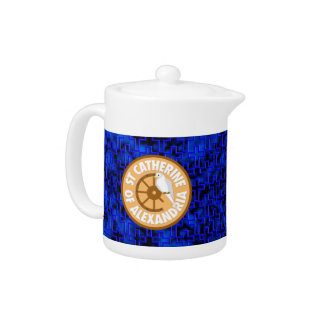 Saint Catherine of Alexandria Teapot