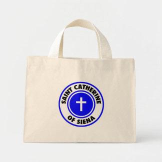 Saint Catherine of Siena Canvas Bags