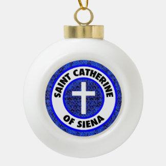 Saint Catherine of Siena Ceramic Ball Christmas Ornament