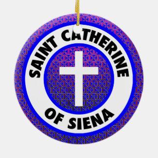 Saint Catherine of Siena Ceramic Ornament