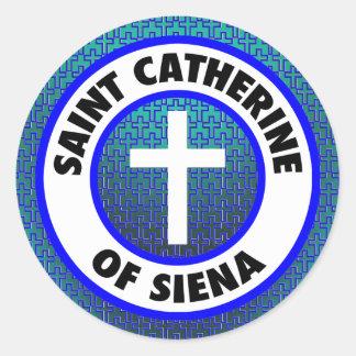 Saint Catherine of Siena Classic Round Sticker
